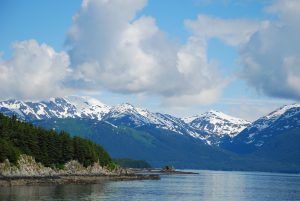 Picture of mountains and a lake in the Tongass National Forest