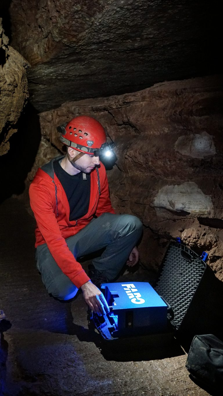 Blase LaSala in cave